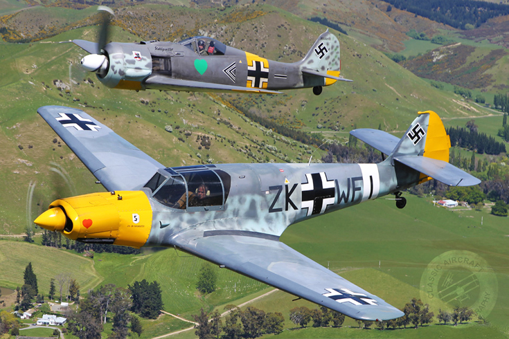 Me-108 and Fw190
